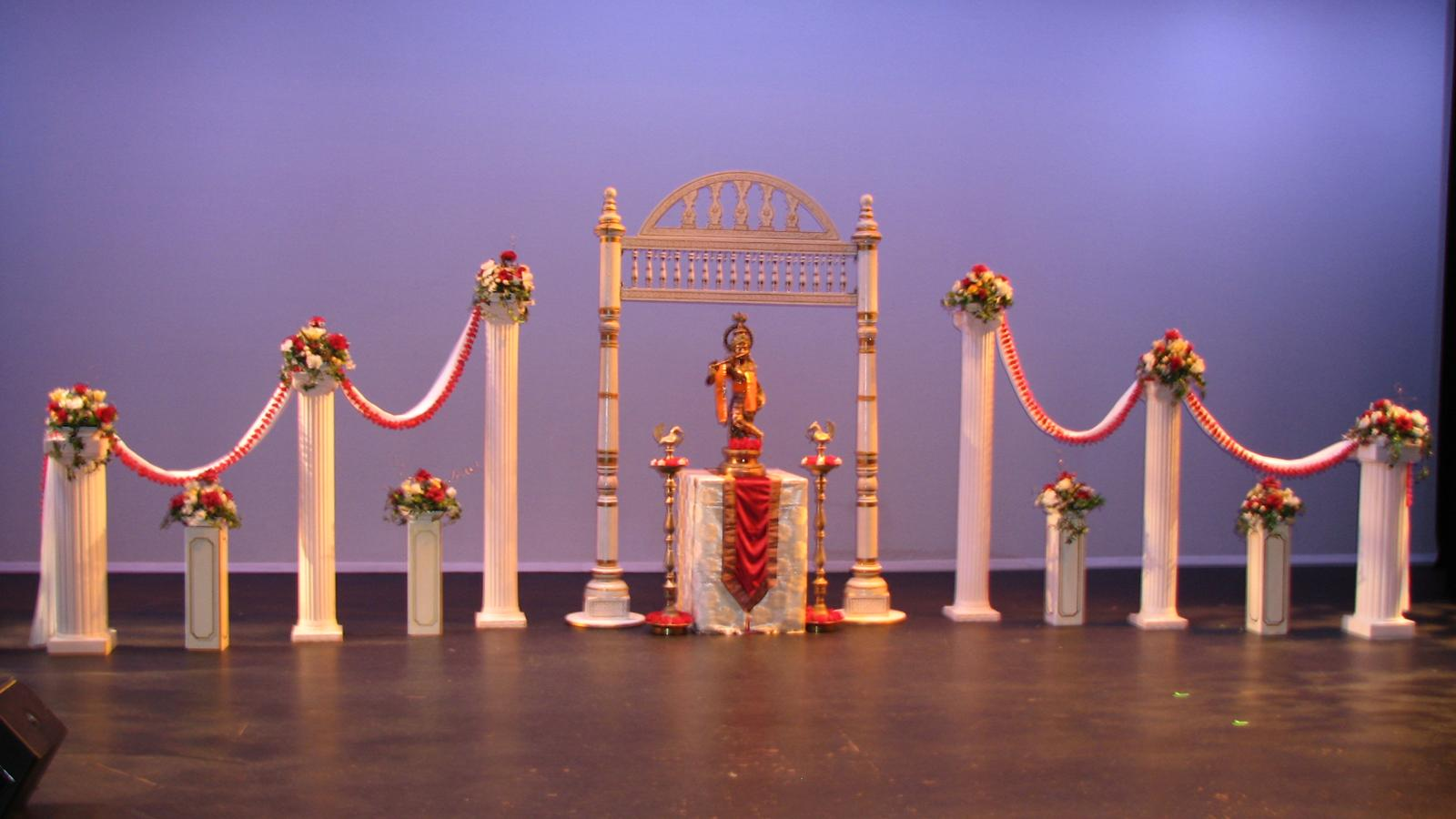 Krushna mandap for Arangetram decoration ideas